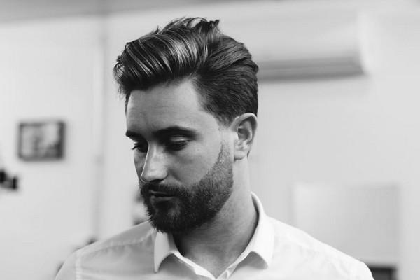 Mens Haircuts Shaves Sides Long Top