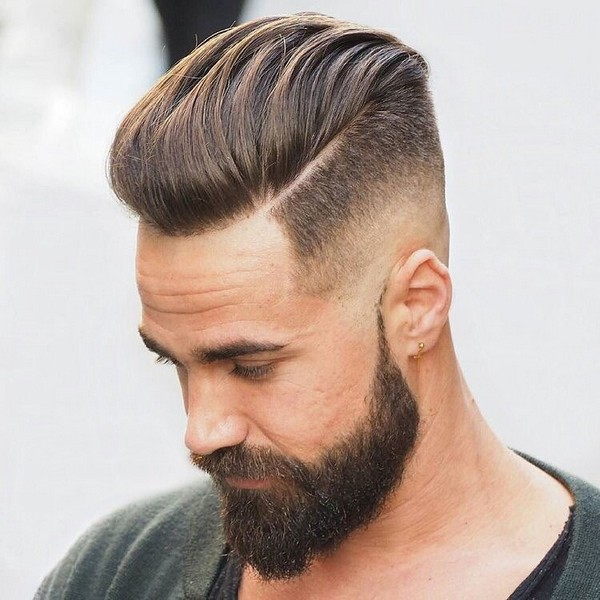mens side part fade haircut