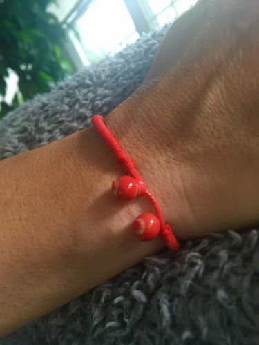 Red String Ceramic Bracelet Set