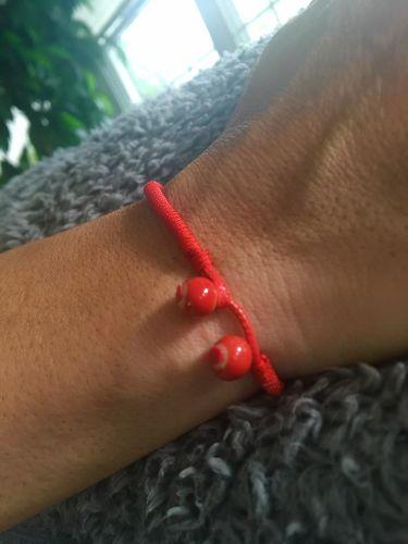Red String Ceramic Bracelet Set