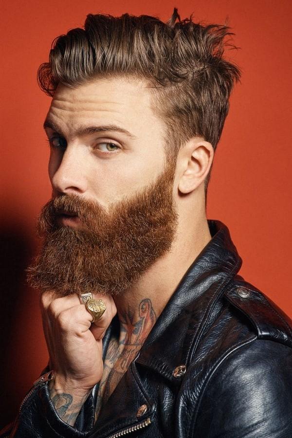Full Beard Style Bald Head