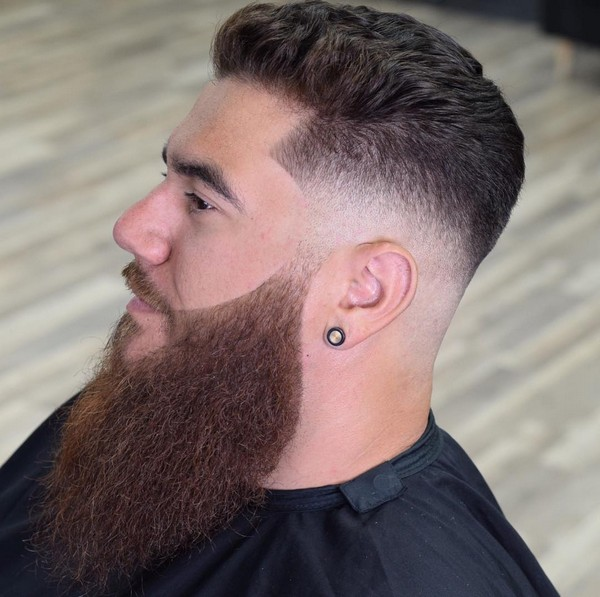 Full Beard Style For Round Face