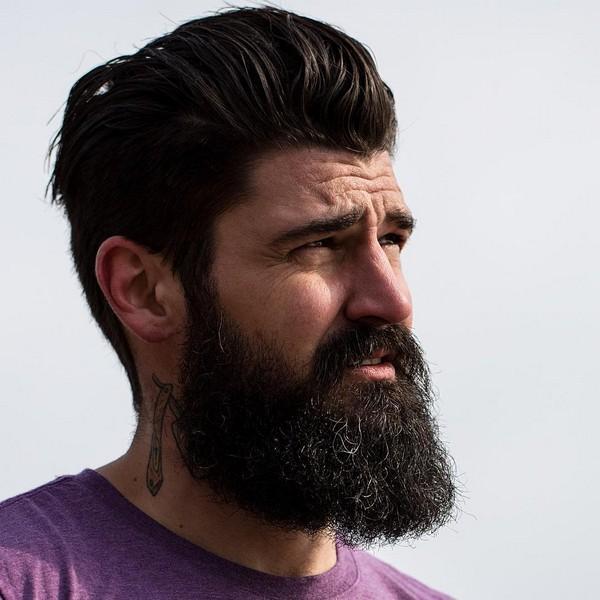 Full Beard Style Neckline
