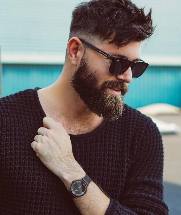Full Beard Styles Neckline