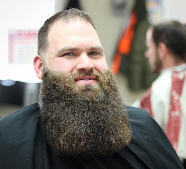 Long Shaped Up Full Beard Styles