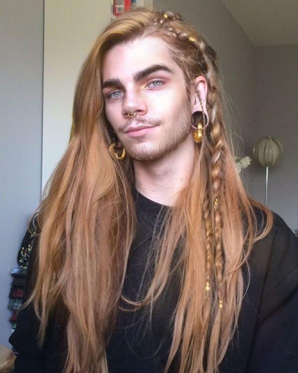 Mens Side Braids