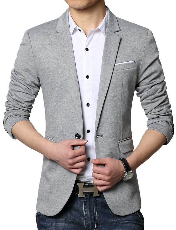 Grey Mens Blazer