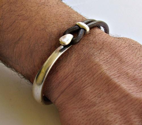 Unique Mens Leather Cuff Bracelets
