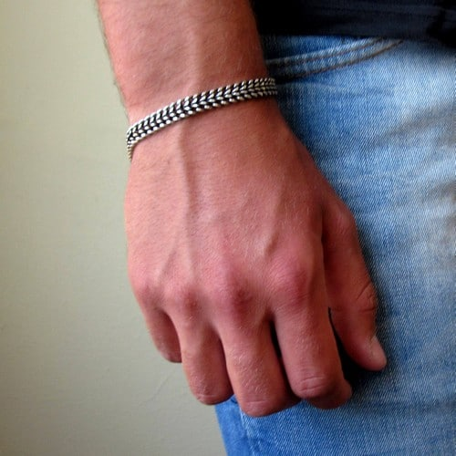 Unique Sterling Silver Mens Bracelets