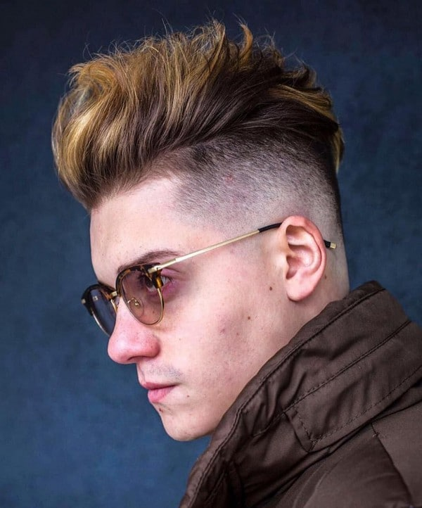 Quiff Hairstyle With Shaved Sides