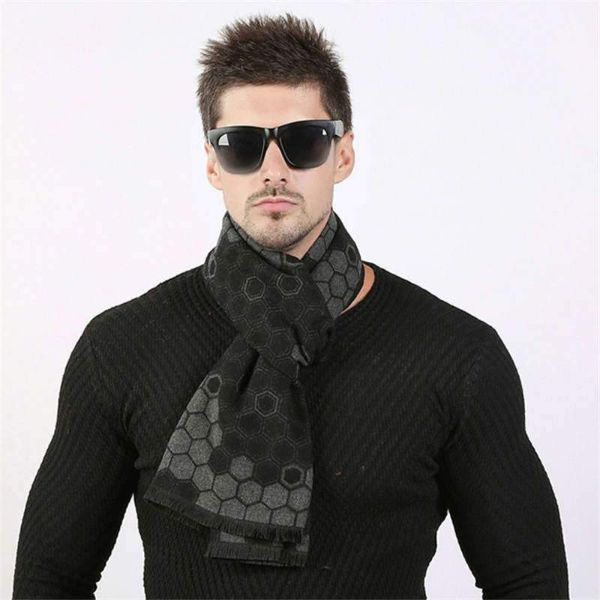 Black Mens Scarf