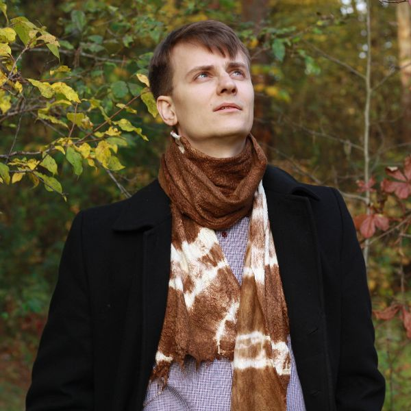 Brown Mens Scarf