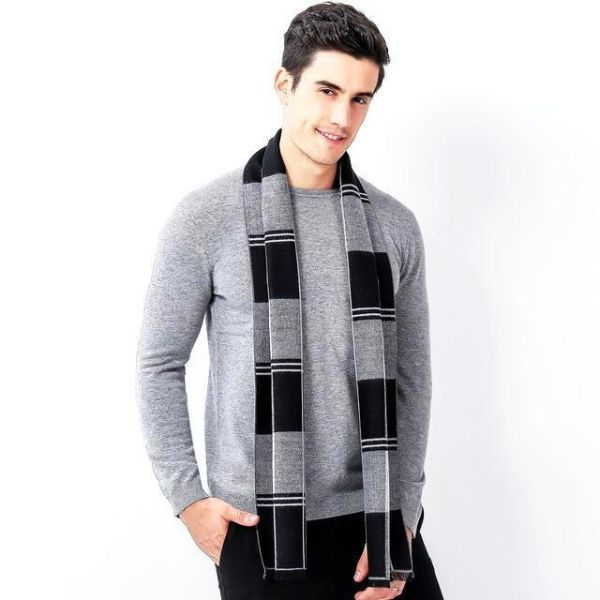 Checked Mens Scarf