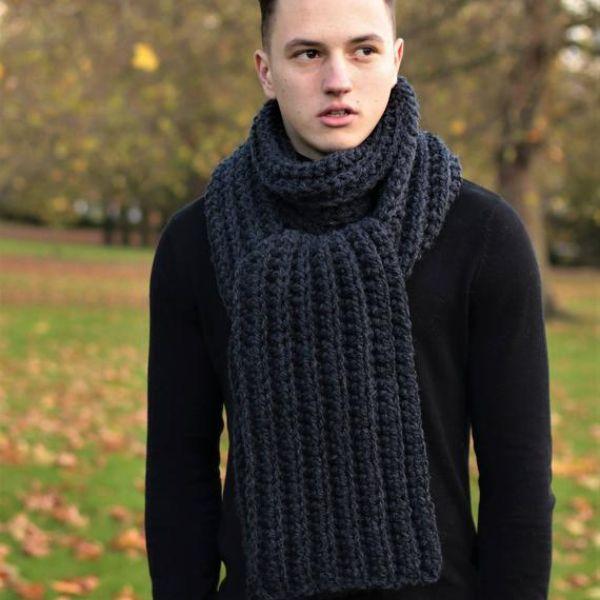 Crochet Mens Scarf