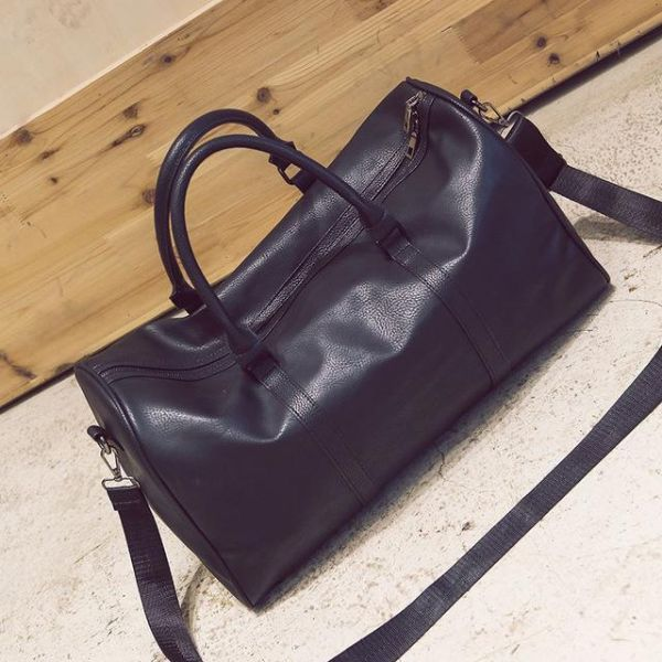 Faux Leather Weekend Bag