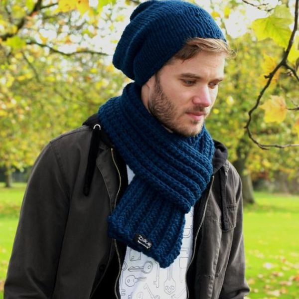 French Mens Scarf