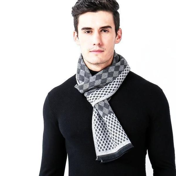 Grey Mens Scarf