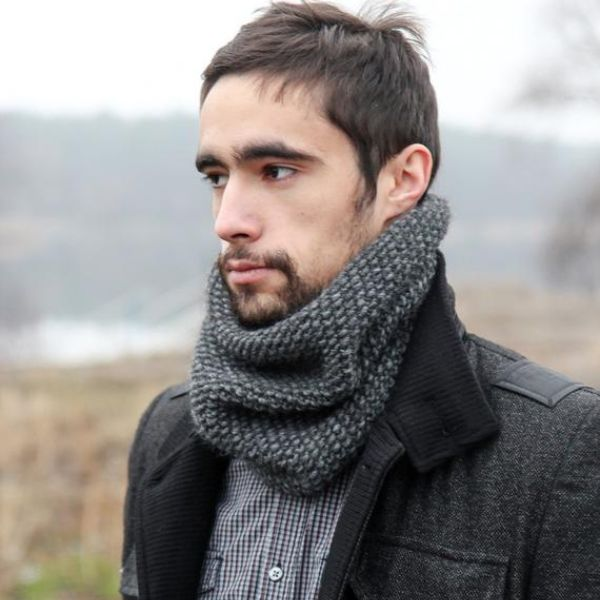 Knitting Mens Scarf
