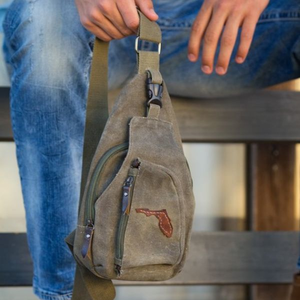 Mens Canvas Crossbody Bag