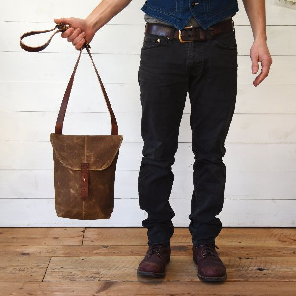 Mens Hunter Canvas Crossbody Bag
