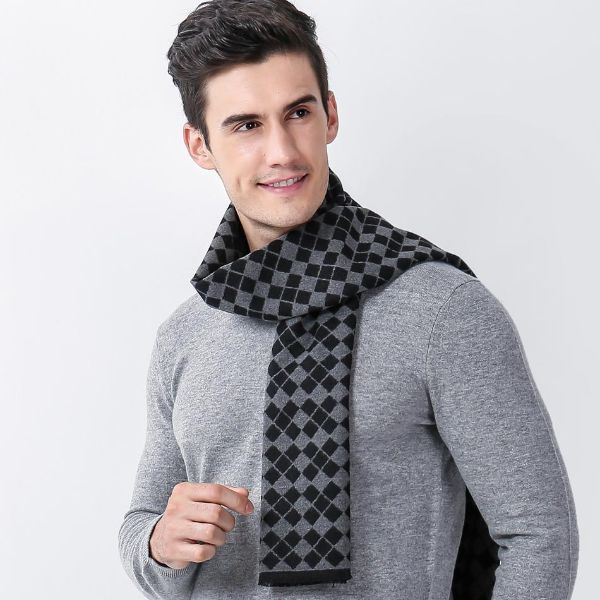 Plaid Mens Scarf