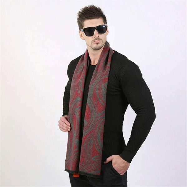 Red Mens Scarf