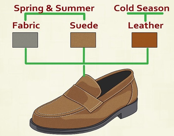 suede vs leather loafers