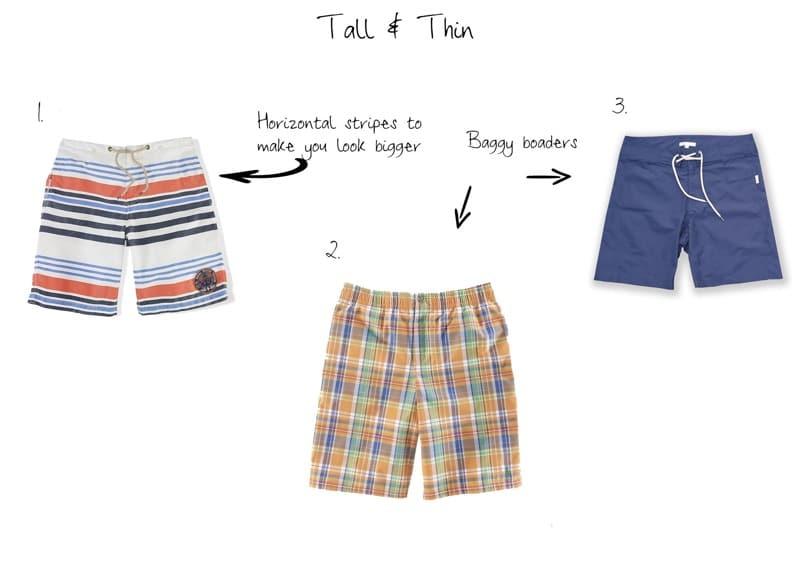 types of swim shorts
