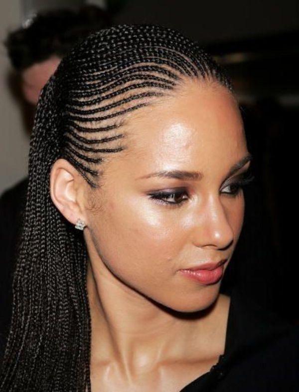 Alicia Keys Cornrows