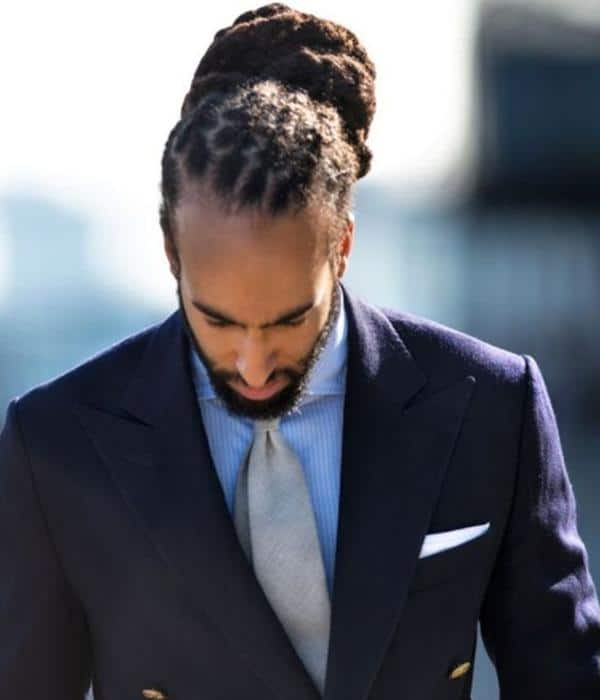 long hairstyles for black men