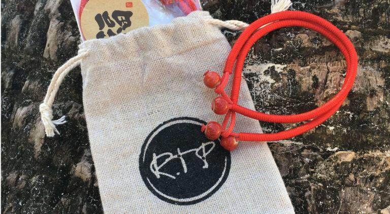 lucky ceramic red string bracelet