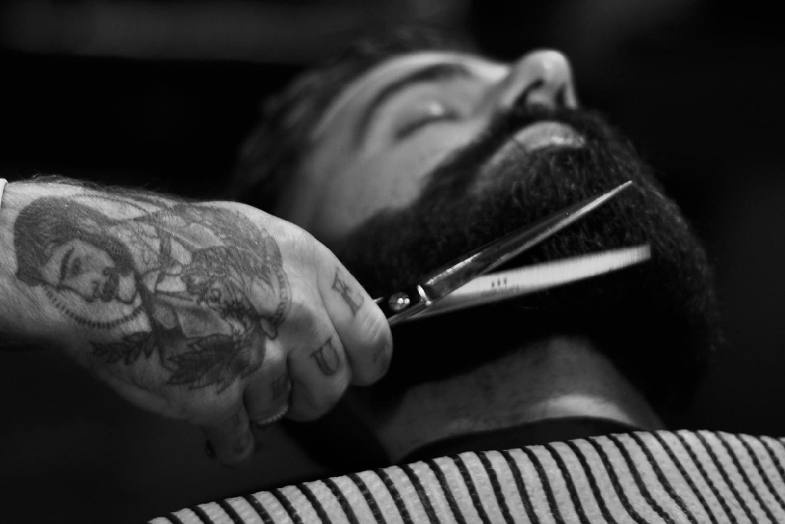 mens hairstylists grooming hair