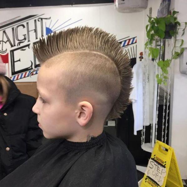 full spiked mohawk hairstyle for boys