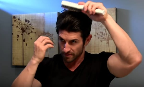 comb hair with pomade