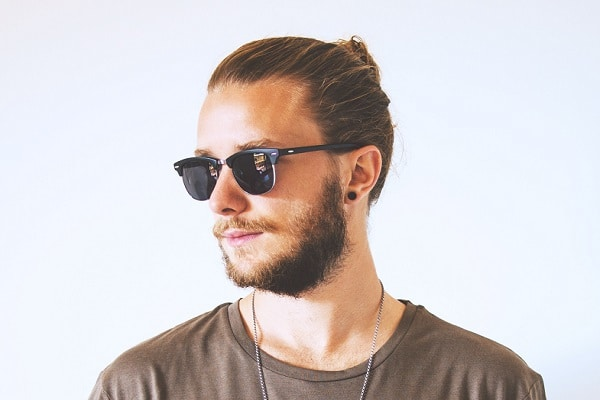 hipster haircut man bun top knot