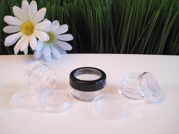 homemade mustache wax storage jars
