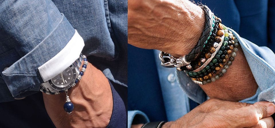 how to wear mens bracelets