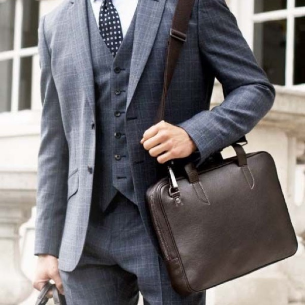 proffesional messenger bag suit