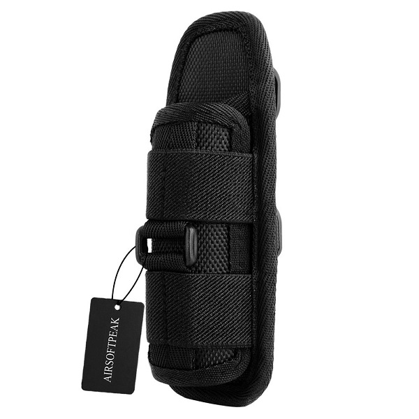 AIRSOFTPEAK Tactical Flashlight Pouch Holster Carry Case Holder