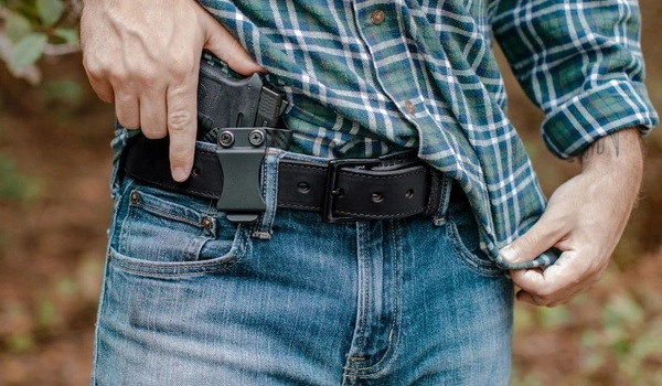 Leather Holster Tactical Belt
