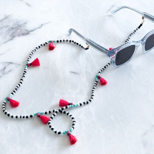 beaded tassel eyeglass strap