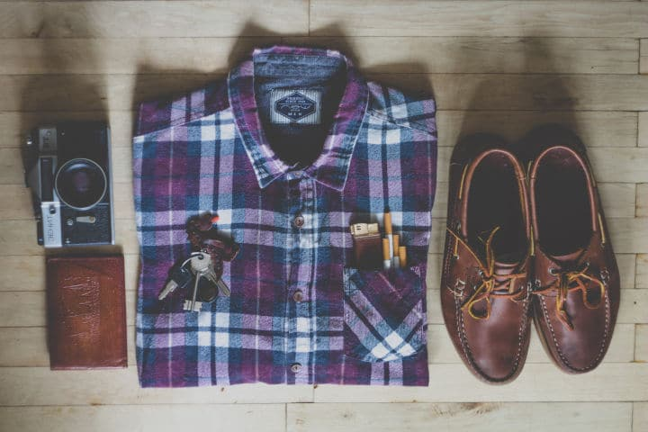 flatlay mens clothing