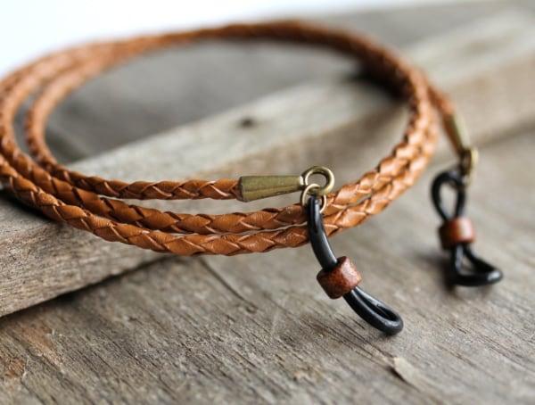 rustic leather sunglasses neck strap