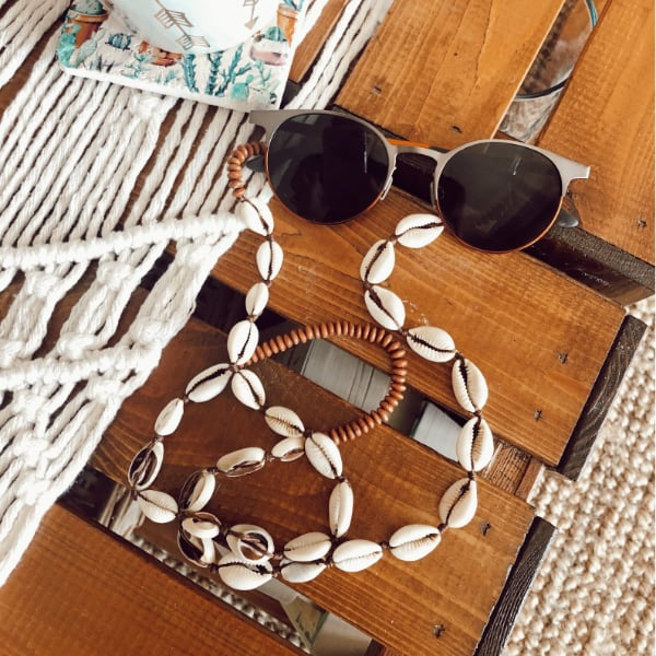 seashell sunglasses strap