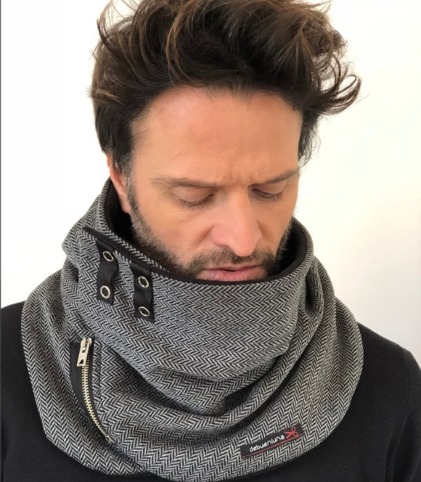 cow fleece winter mens scarf