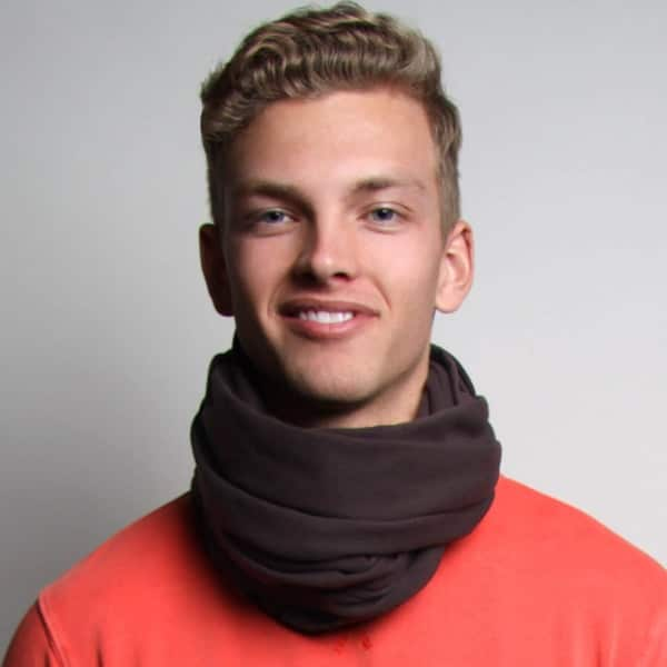 oversized brown cotton infinity mens scarf