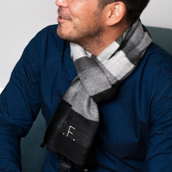 personalized cashmere mens scarf