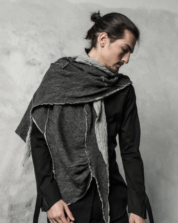 soft wrinkled futuristic mens scarf