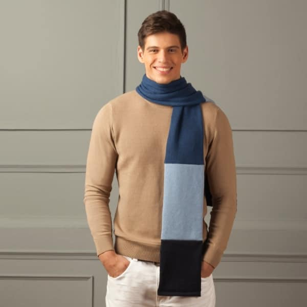super soft pure cashmere open mens scarf