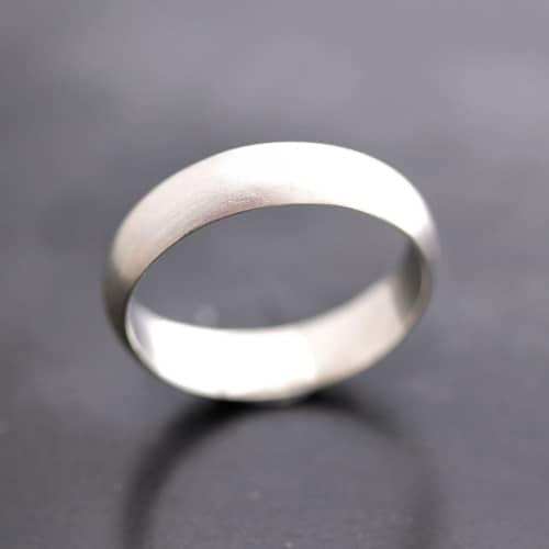 5mm argentium sterling silver wedding ring